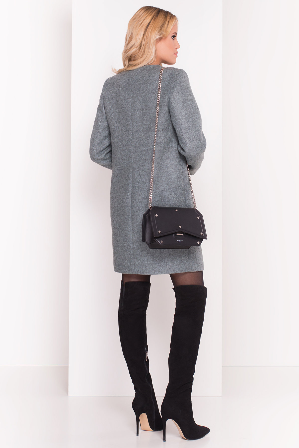 Демисезонное пальто Ферран 5369 АРТ. 37437 Цвет: Олива - фото 3, интернет магазин tm-modus.ru