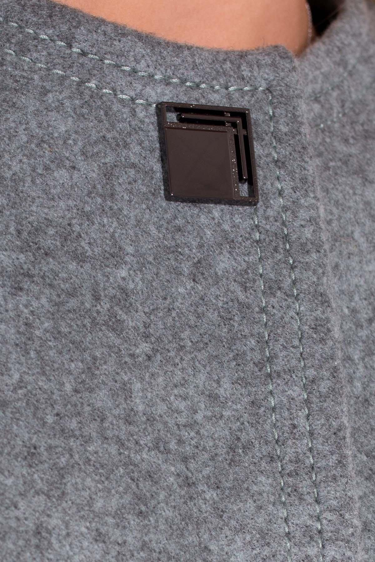 Демисезонное пальто Ферран 5369 АРТ. 37437 Цвет: Олива - фото 5, интернет магазин tm-modus.ru