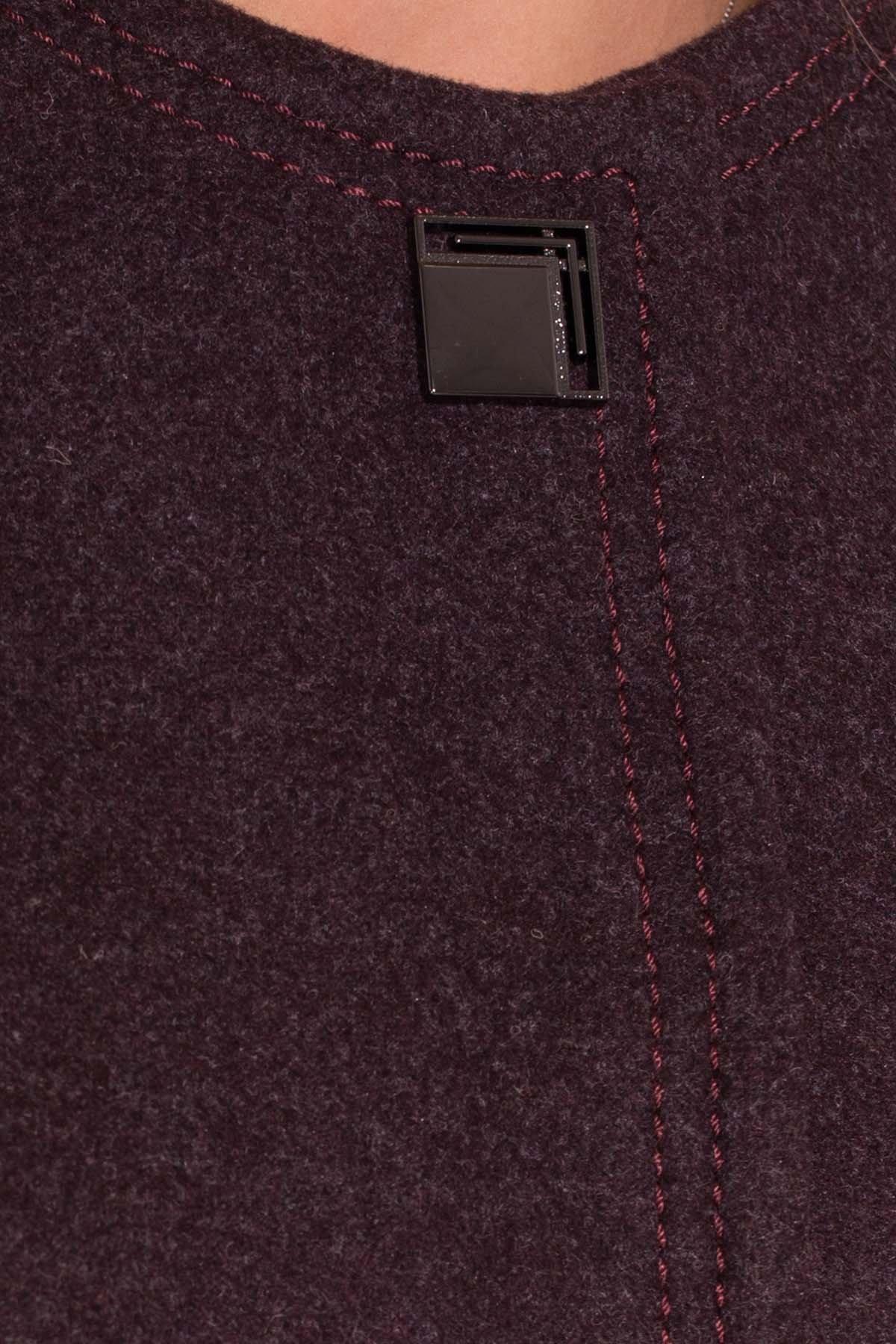 Демисезонное пальто Ферран 5369 АРТ. 37436 Цвет: Марсала - фото 5, интернет магазин tm-modus.ru