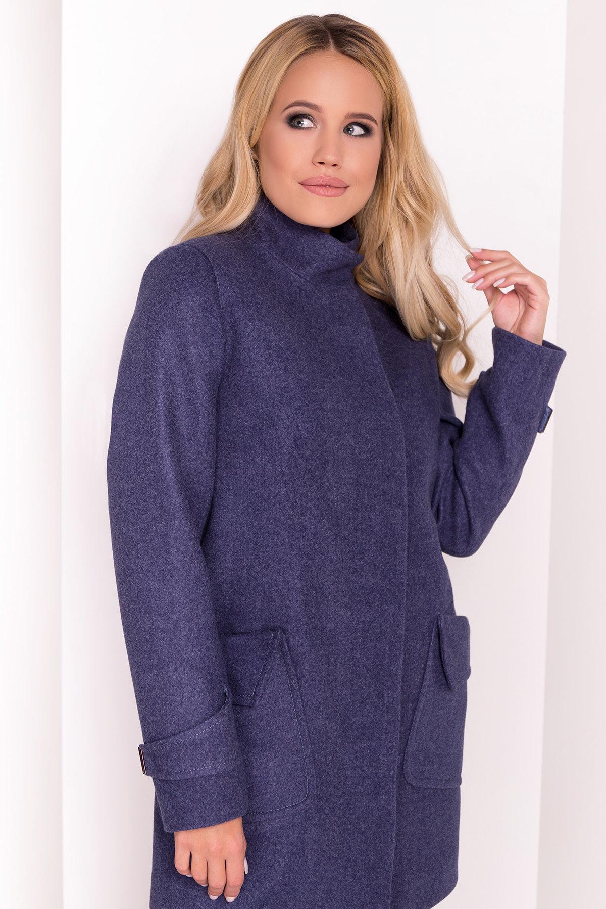 Демисезонное пальто с воротником стойка Эста 5417 АРТ. 36788 Цвет: Джинс - фото 3, интернет магазин tm-modus.ru