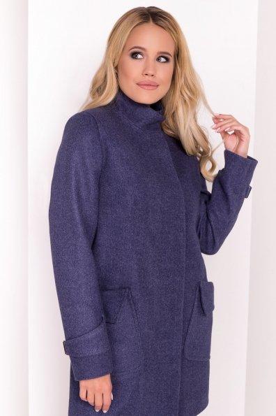 Демисезонное пальто с воротником стойка Эста 5417 Цвет: Джинс