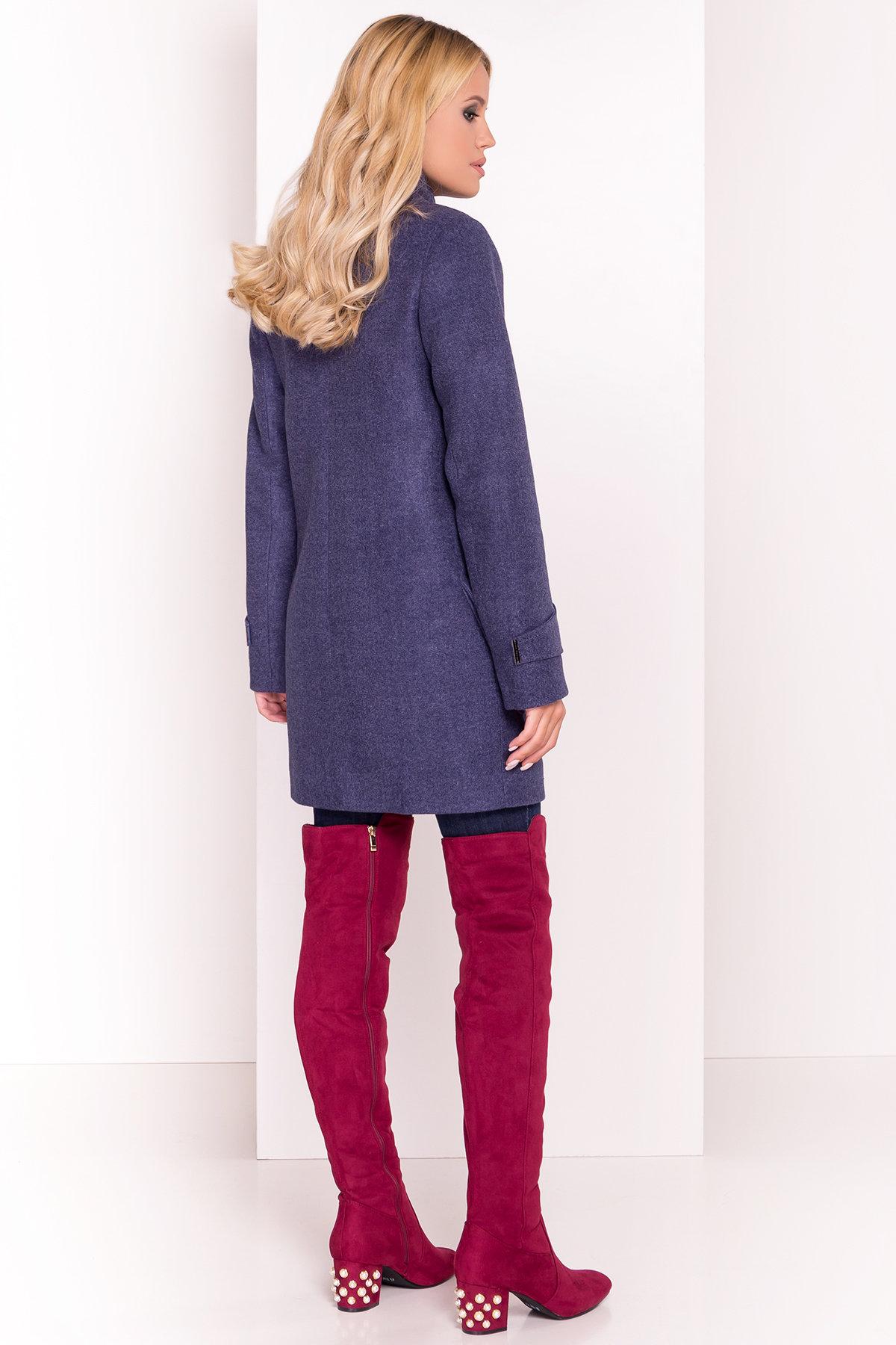 Демисезонное пальто с воротником стойка Эста 5417 АРТ. 36788 Цвет: Джинс - фото 4, интернет магазин tm-modus.ru