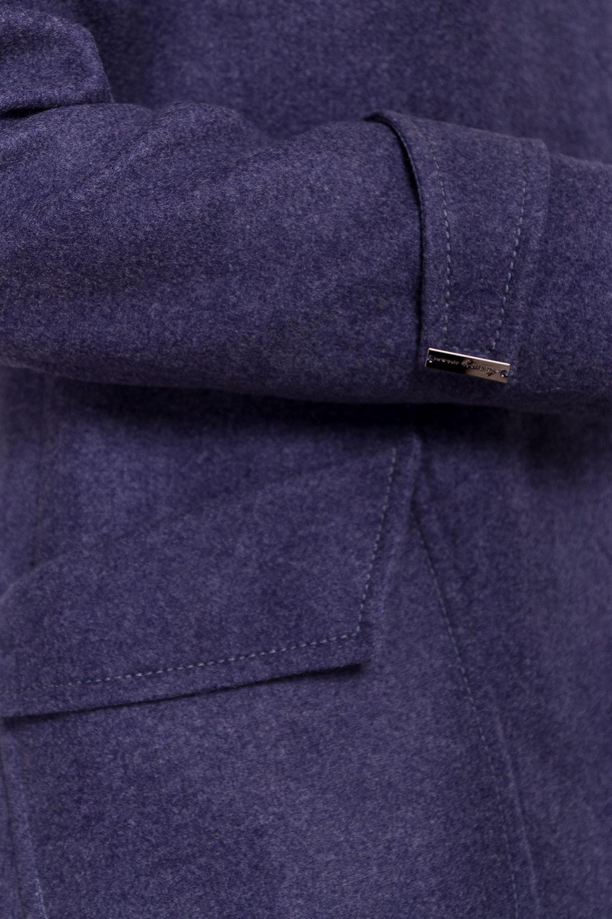 Демисезонное пальто с воротником стойка Эста 5417 АРТ. 36788 Цвет: Джинс - фото 5, интернет магазин tm-modus.ru