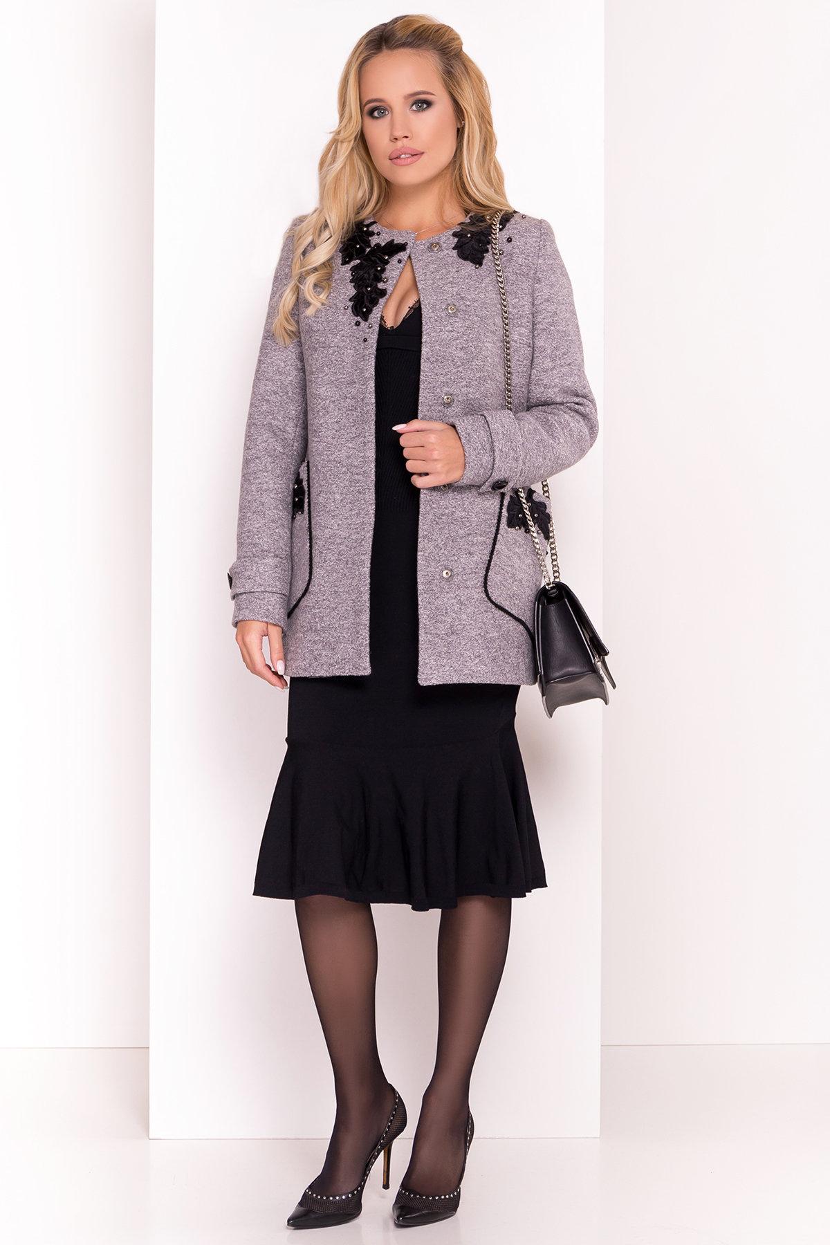 Пальто Латта 5328 АРТ. 37720 Цвет: Серый LW-10 - фото 1, интернет магазин tm-modus.ru