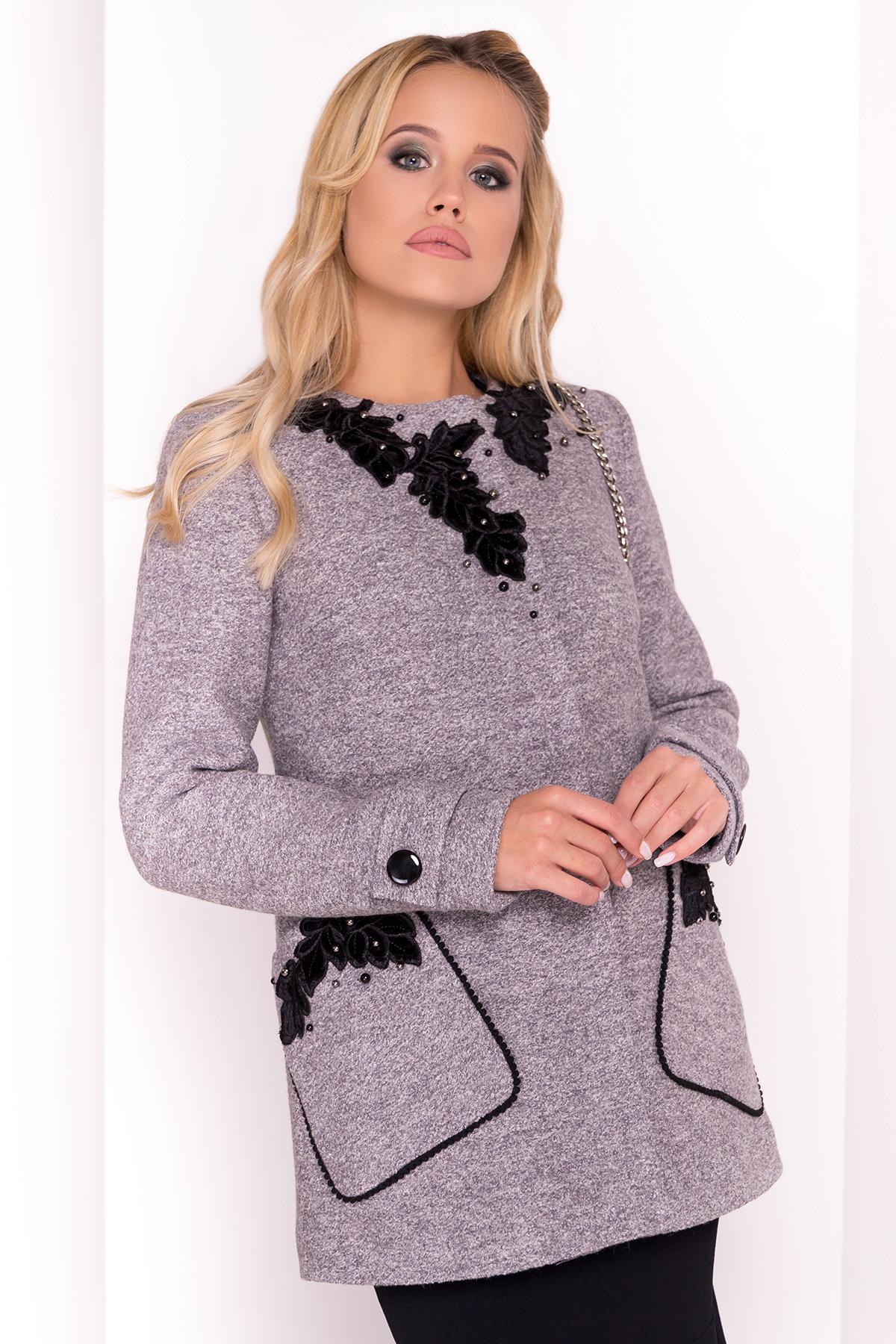 Пальто Латта 5328 АРТ. 37720 Цвет: Серый LW-10 - фото 3, интернет магазин tm-modus.ru