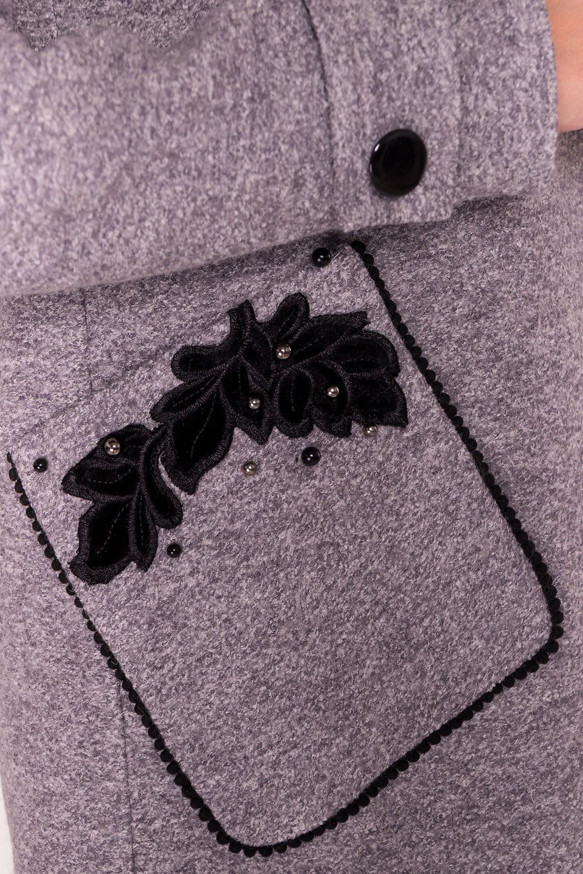 Пальто Латта 5328 АРТ. 37720 Цвет: Серый LW-10 - фото 5, интернет магазин tm-modus.ru