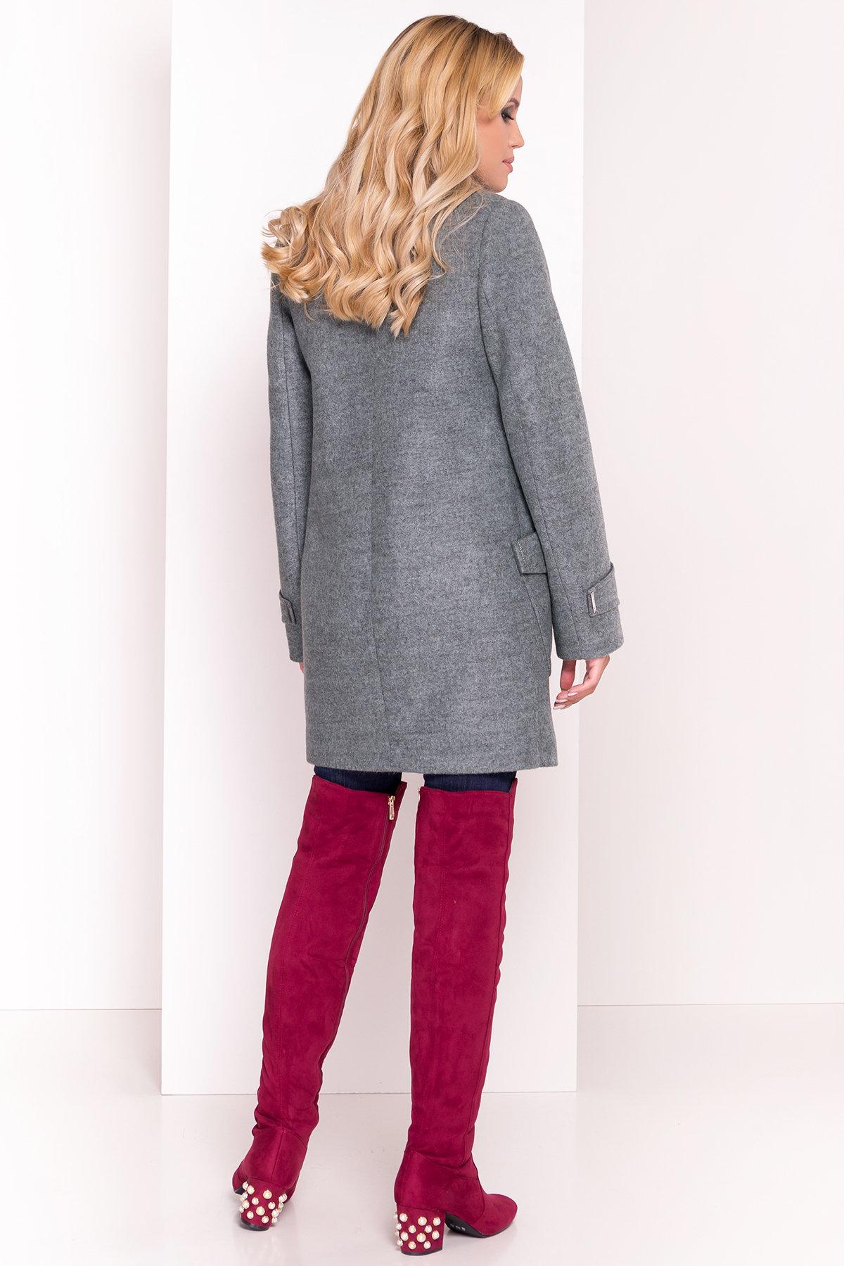 Демисезонное пальто с воротником стойка Эста 5417 АРТ. 36790 Цвет: Олива - фото 4, интернет магазин tm-modus.ru