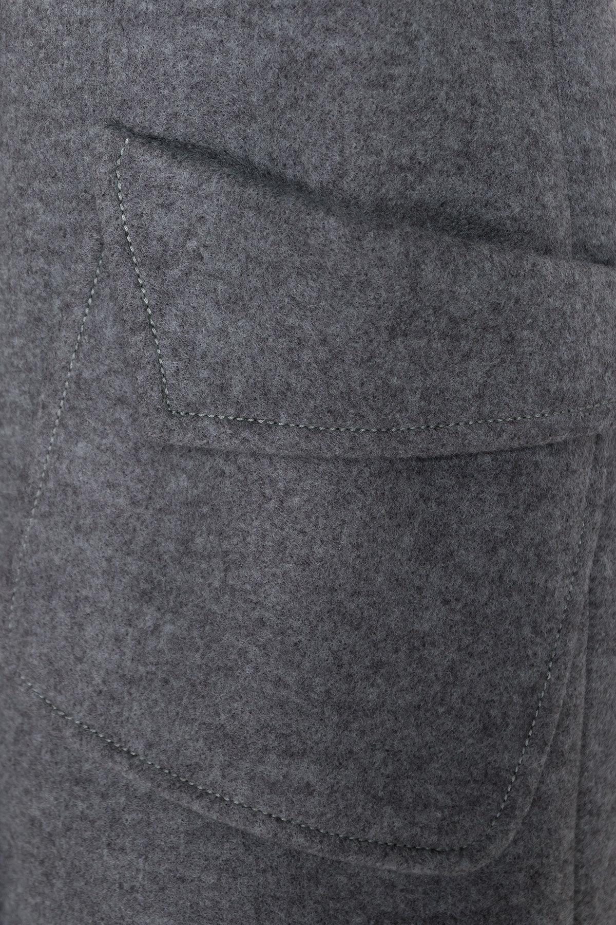 Демисезонное пальто с воротником стойка Эста 5417 АРТ. 36790 Цвет: Олива - фото 5, интернет магазин tm-modus.ru