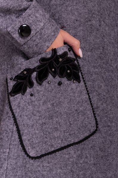 Пальто Латта 5328 Цвет: Серый Темный LW-47