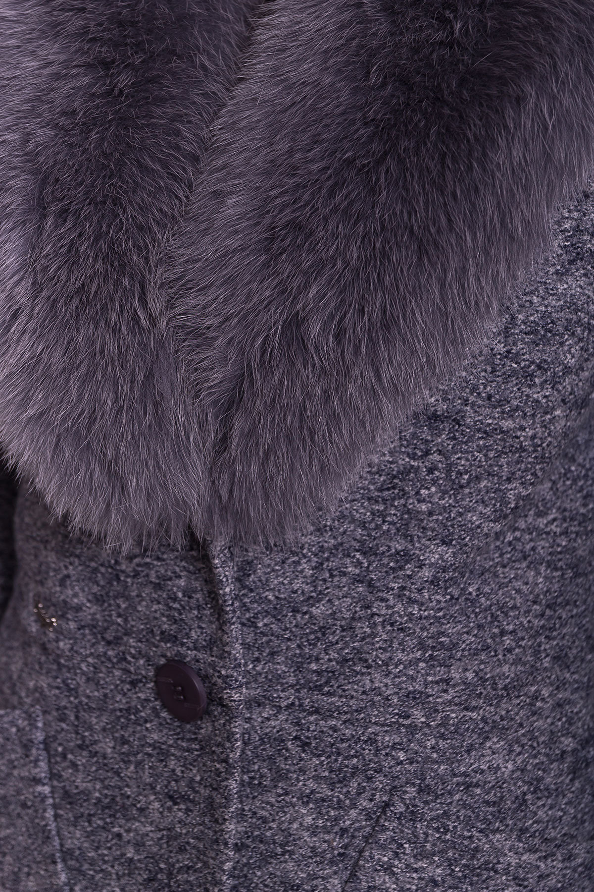 Пальто зима Габриэлла 4155 Цвет: Серый темный LW-22