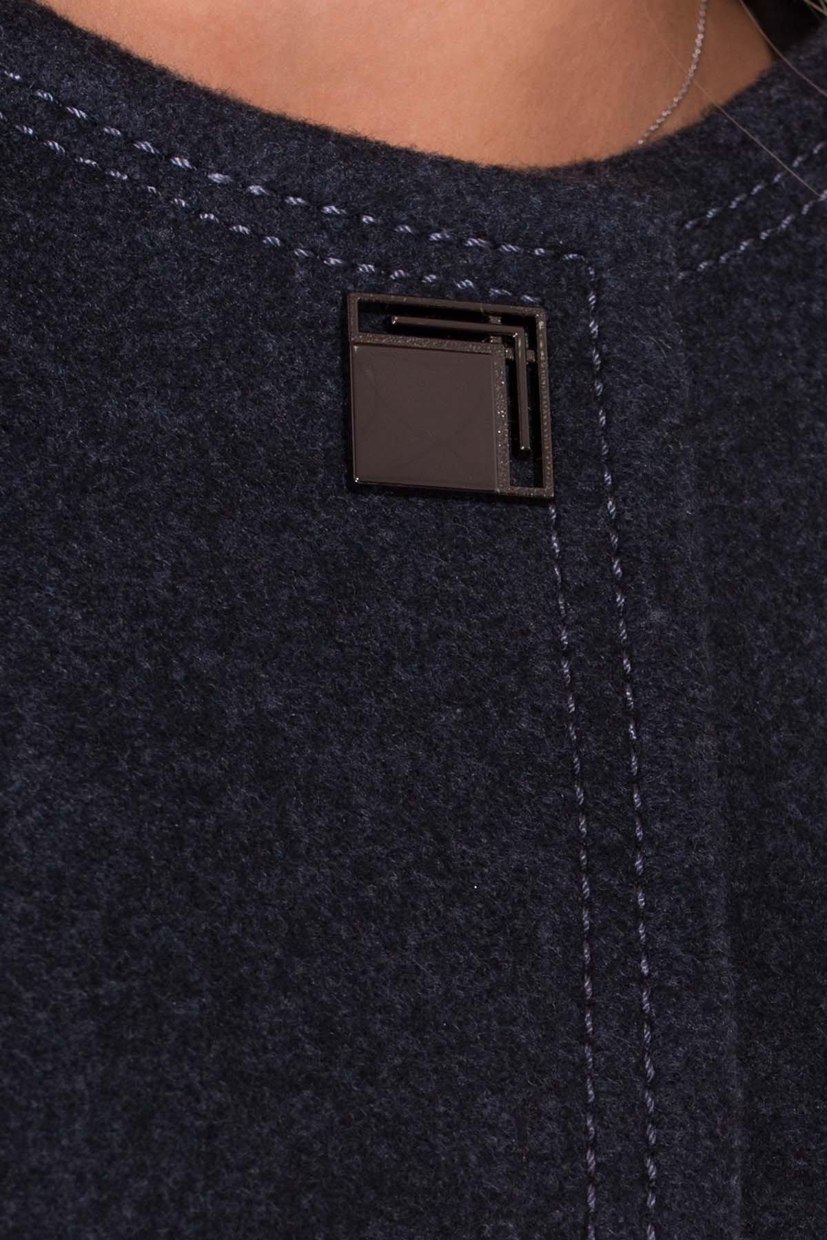 Пальто Ферран 5533 Цвет: Синий/Зеленый 72