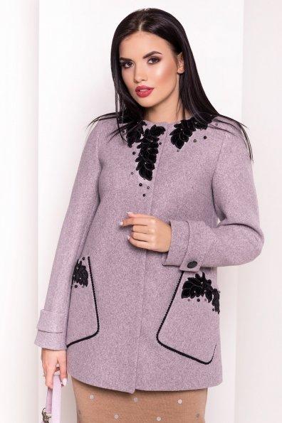 Пальто Латта 5526 Цвет: Серый/розовый 78
