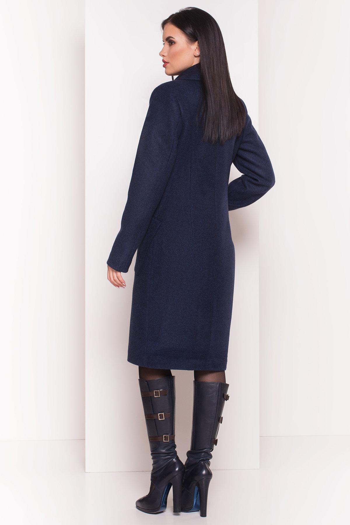 Пальто на весну-осень Габриэлла 4459 АРТ. 36662 Цвет: Темно-синий 17 - фото 2, интернет магазин tm-modus.ru
