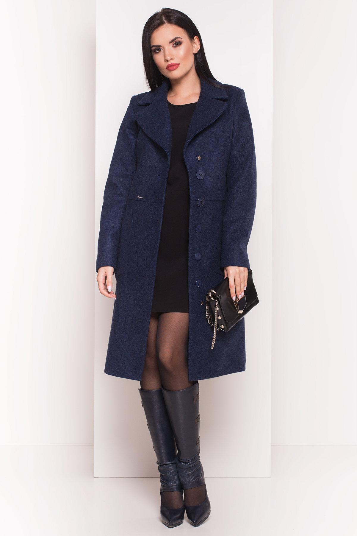 Пальто на весну-осень Габриэлла 4459 АРТ. 36662 Цвет: Темно-синий 17 - фото 3, интернет магазин tm-modus.ru