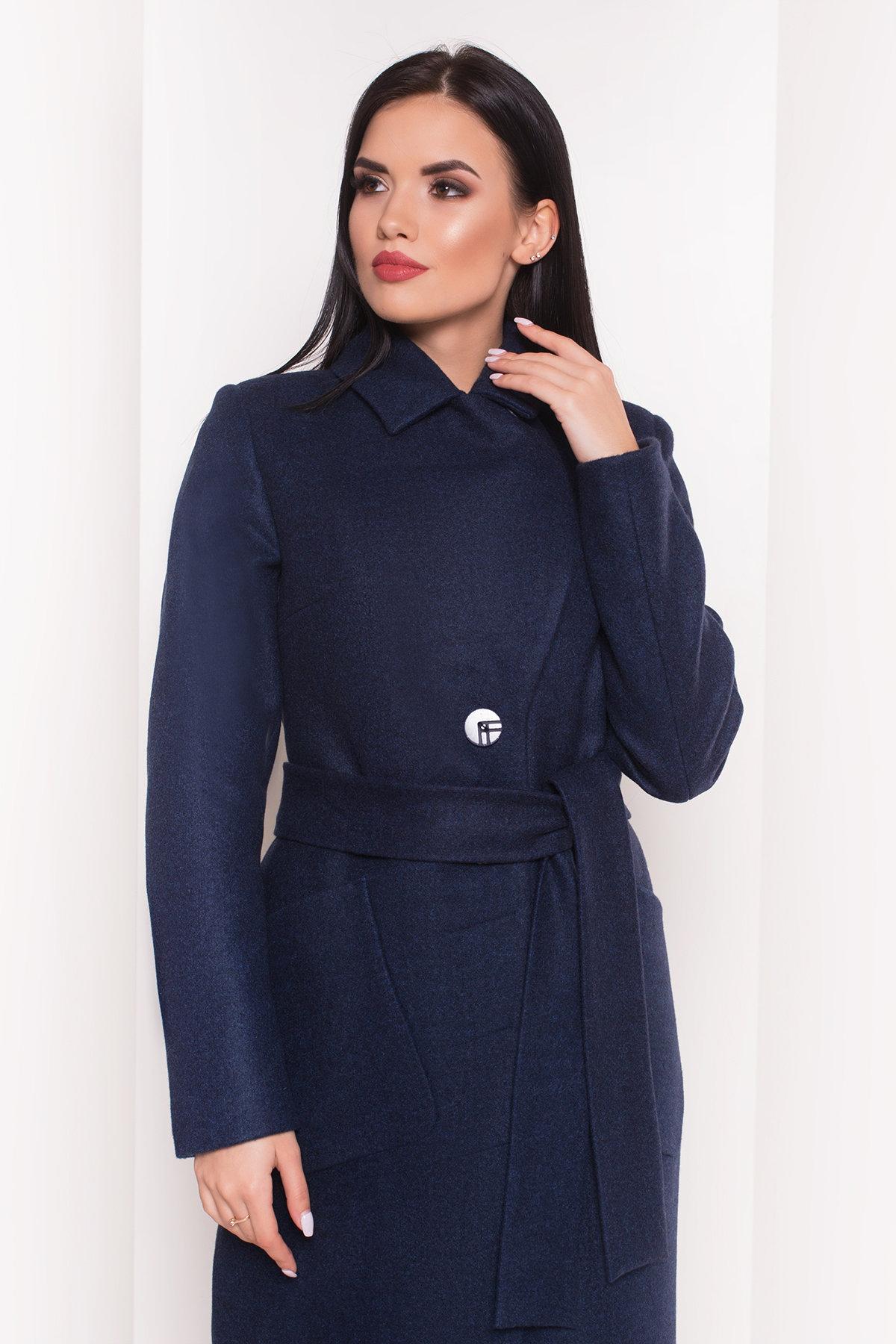 Пальто на весну-осень Габриэлла 4459 АРТ. 36662 Цвет: Темно-синий 17 - фото 5, интернет магазин tm-modus.ru
