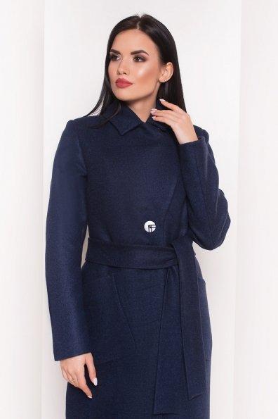 Пальто на весну-осень Габриэлла 4459 Цвет: Темно-синий 17