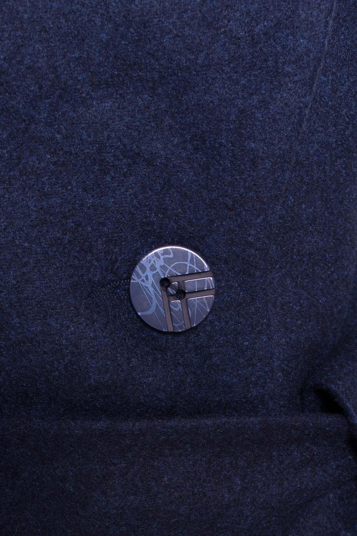 Пальто на весну-осень Габриэлла 4459 АРТ. 36662 Цвет: Темно-синий 17 - фото 6, интернет магазин tm-modus.ru