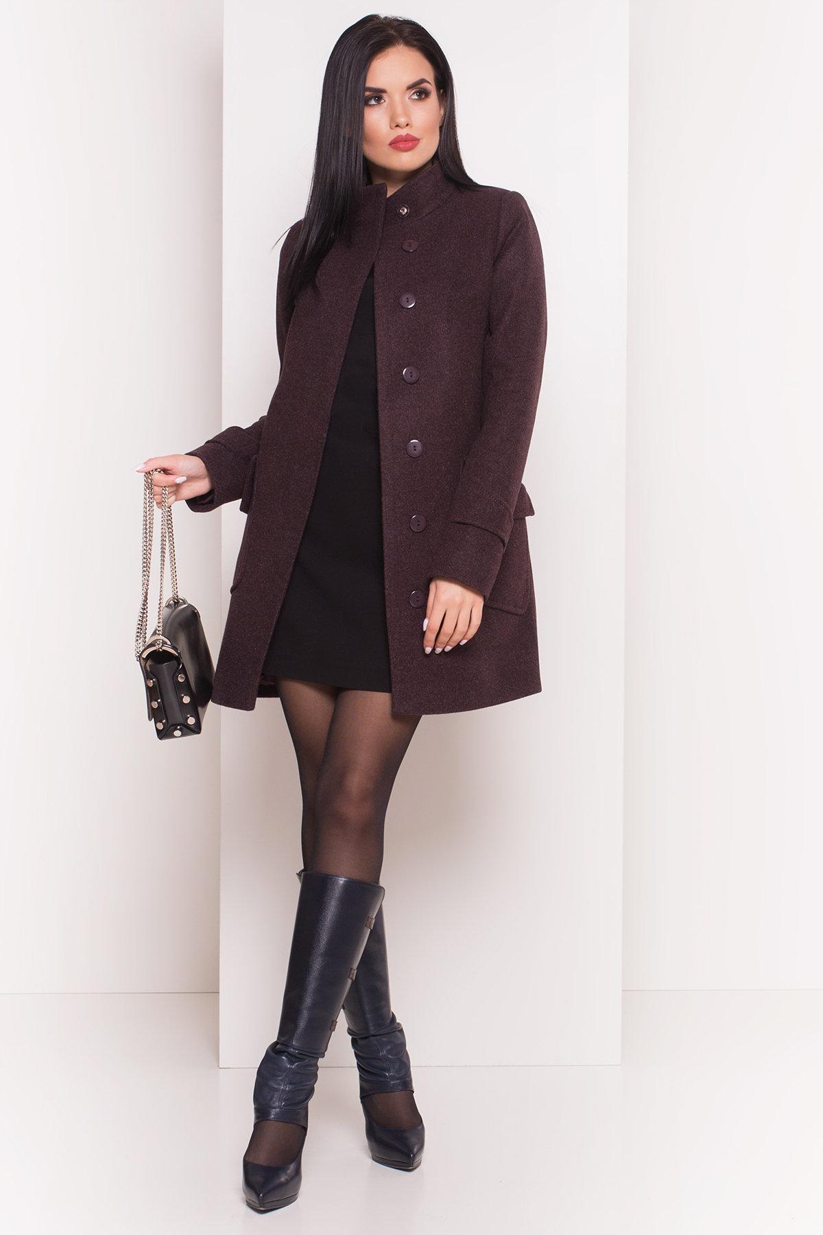 Демисезонное пальто с воротником стойка Эста 5417 АРТ. 36792 Цвет: Марсала - фото 3, интернет магазин tm-modus.ru