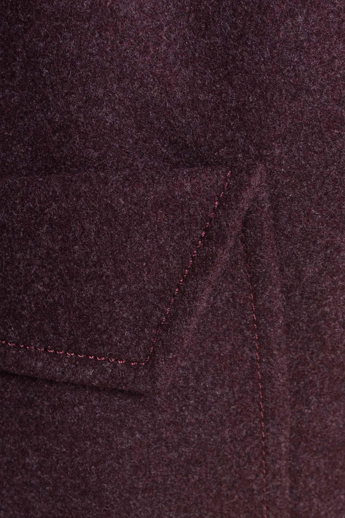 Демисезонное пальто с воротником стойка Эста 5417 АРТ. 36792 Цвет: Марсала - фото 5, интернет магазин tm-modus.ru