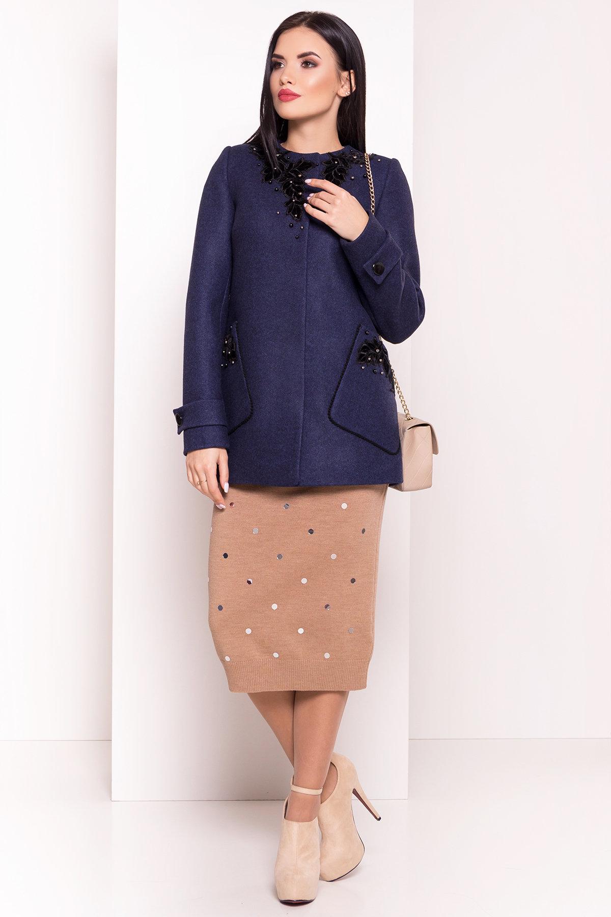 Пальто стеганное демисезонное женское цена от Modus Укороченное пальто-трапеция с вышивкой Латта 5526