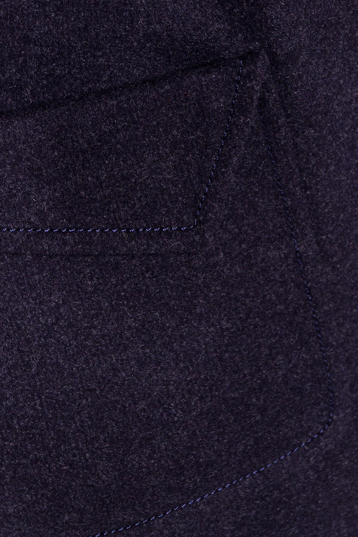 Демисезонное пальто с воротником стойка Эста 5417 АРТ. 36786 Цвет: Темно-синий - фото 5, интернет магазин tm-modus.ru