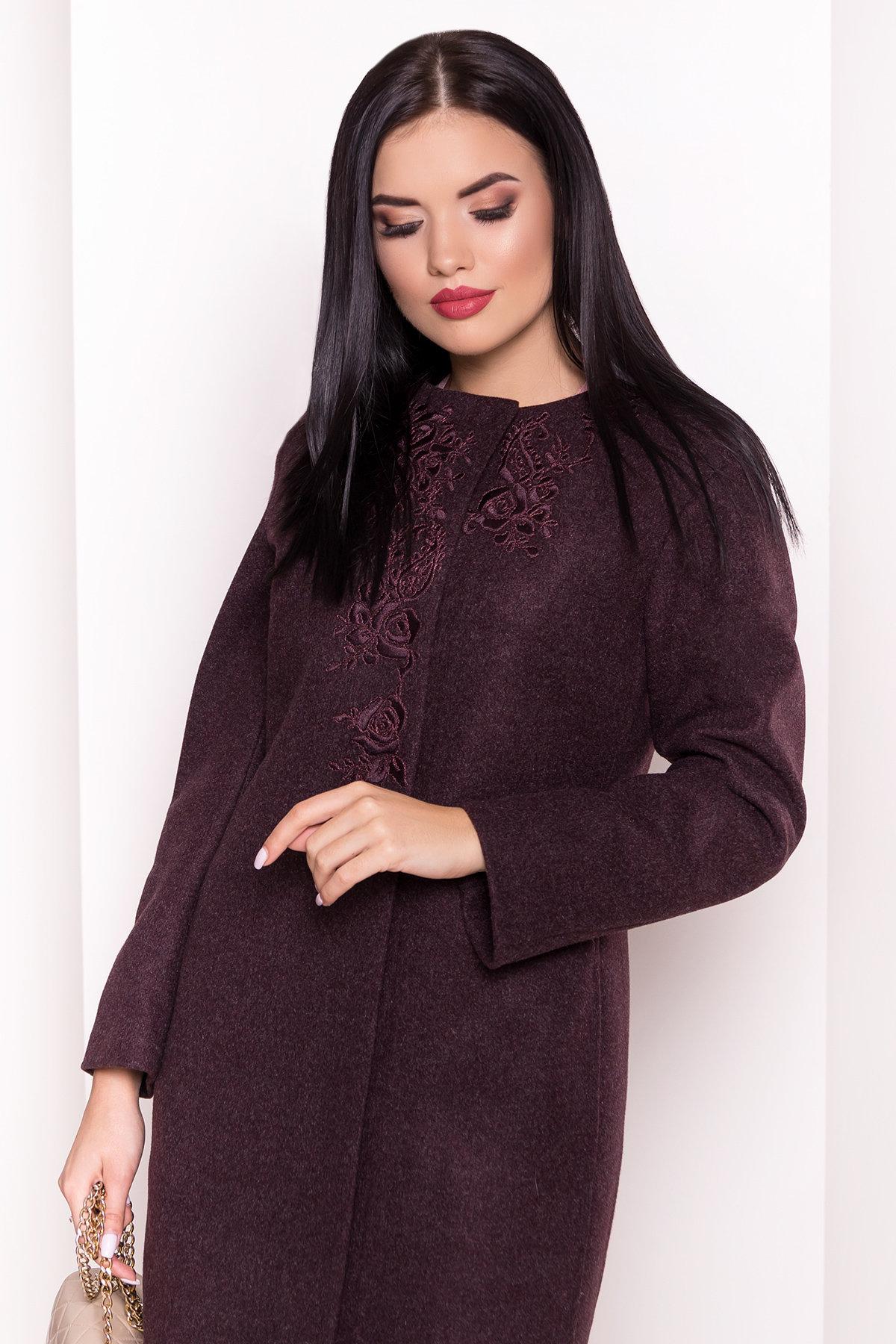 Пальто Авелони 4555 АРТ. 36676 Цвет: Марсала - фото 4, интернет магазин tm-modus.ru