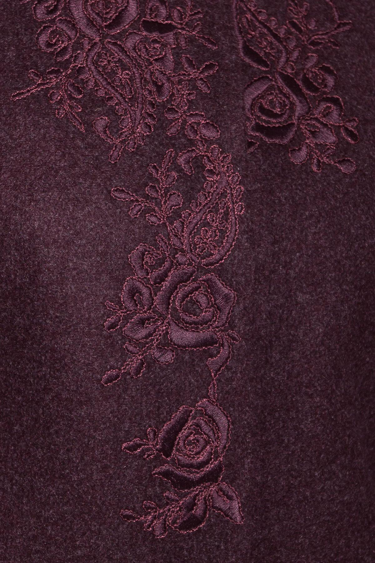 Пальто Авелони 4555 АРТ. 36676 Цвет: Марсала - фото 5, интернет магазин tm-modus.ru