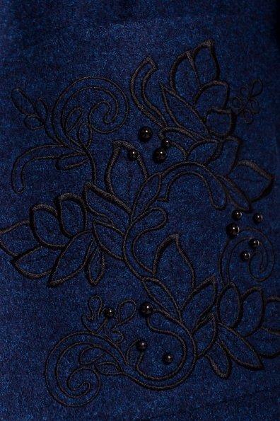 Демисезонное пальто из варенной шерсти Милена 5273 Цвет: Т.синий/электрик-LW27