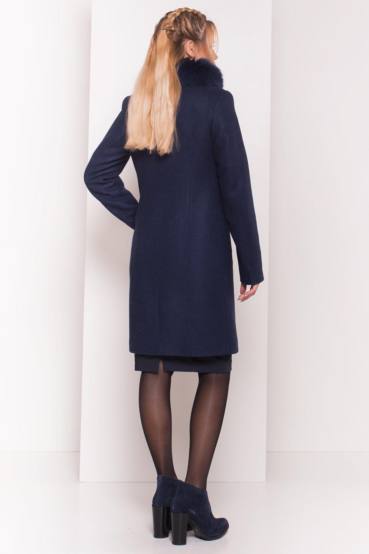 Пальто зима Люцея 5513 АРТ. 37046 Цвет: Темно-синий 17 - фото 2, интернет магазин tm-modus.ru