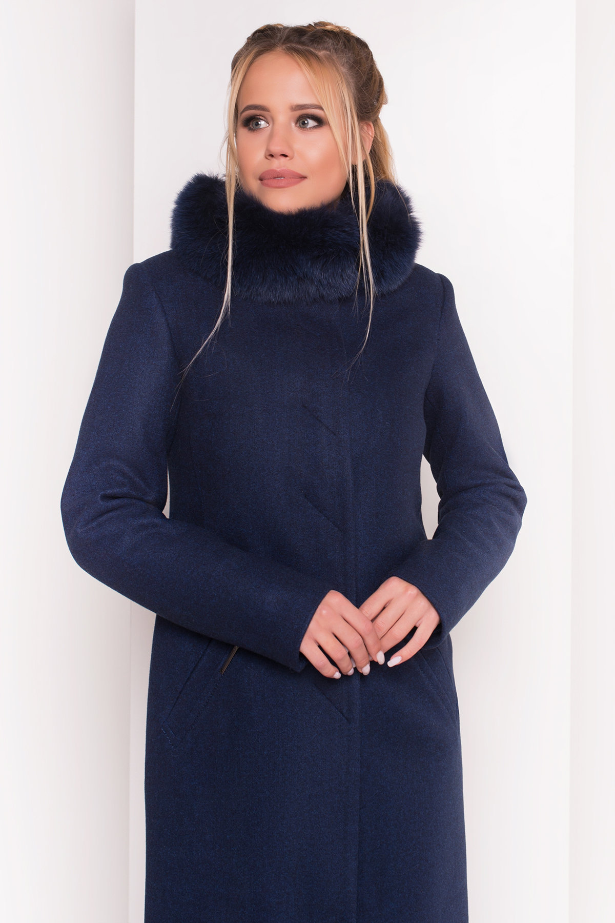 Пальто зима Люцея 5513 АРТ. 37046 Цвет: Темно-синий 17 - фото 4, интернет магазин tm-modus.ru