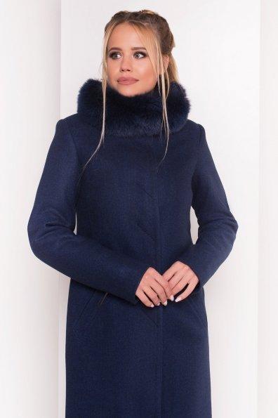 Пальто зима Люцея 5513 Цвет: Темно-синий 17