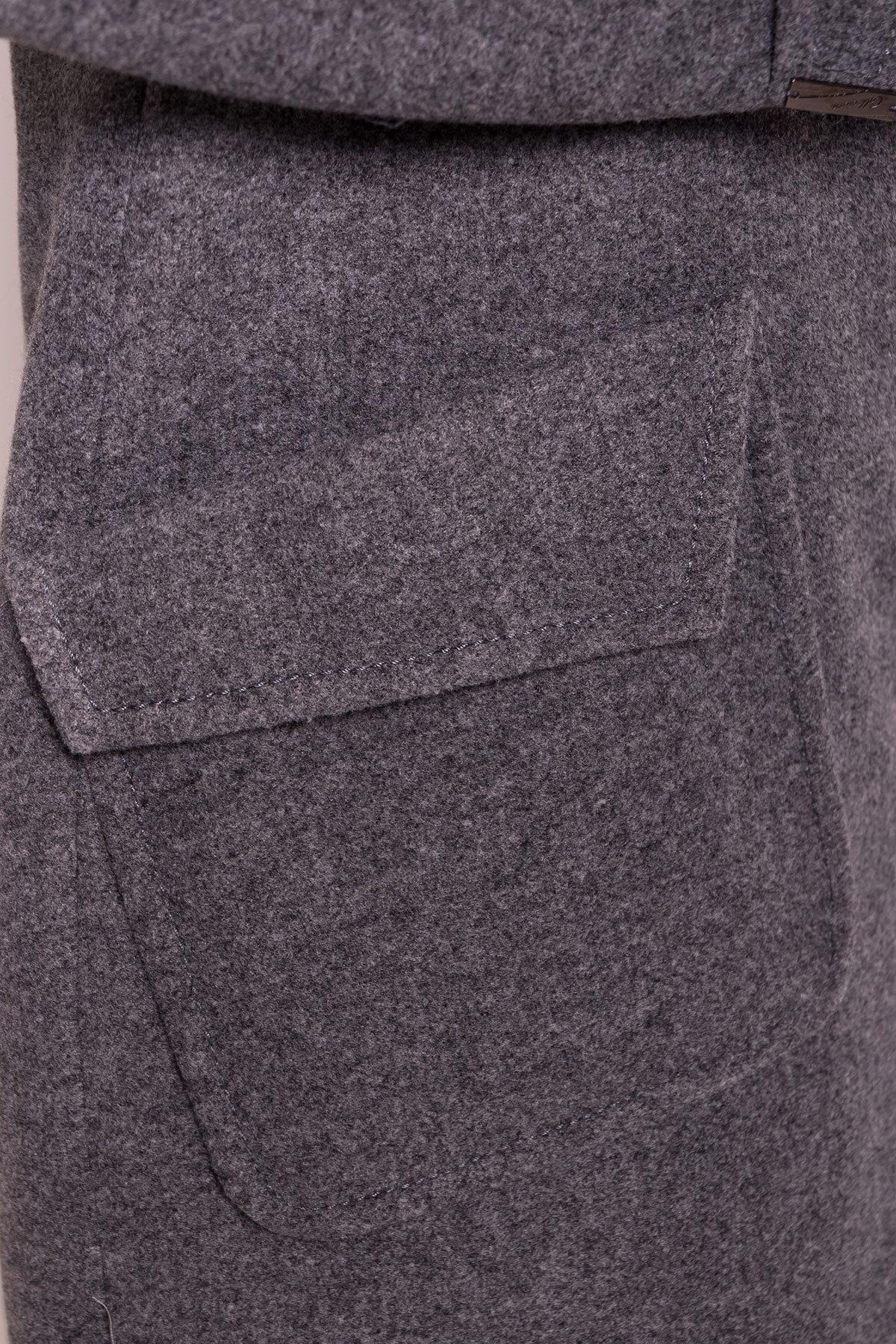 Демисезонное пальто с воротником стойка Эста 5417 АРТ. 36666 Цвет: Серый Темный - фото 5, интернет магазин tm-modus.ru