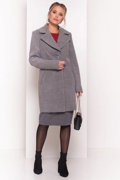 Стильное демисезонное пальто Габриэлла 5295 Цвет: Серый 18
