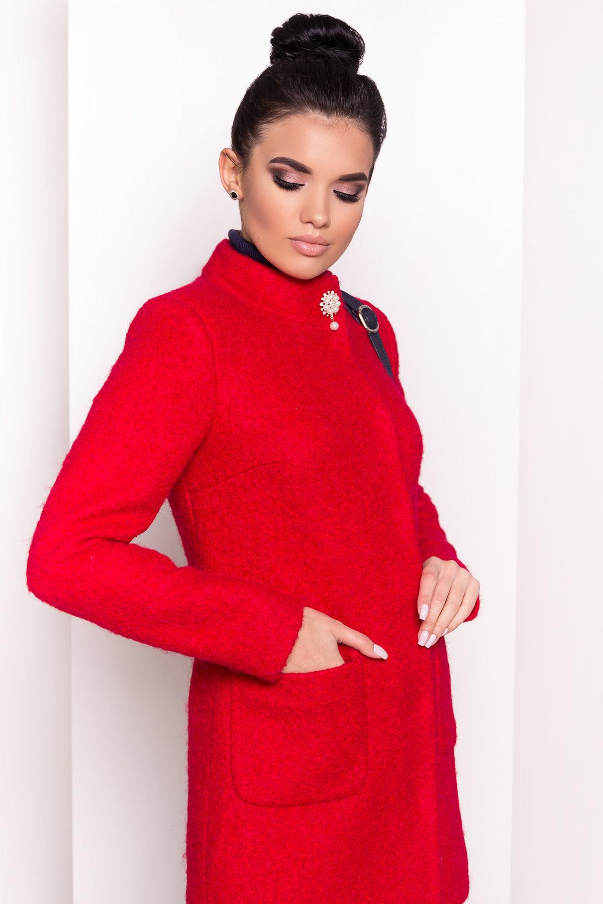 Пальто Мелини 0442 Цвет: Красный