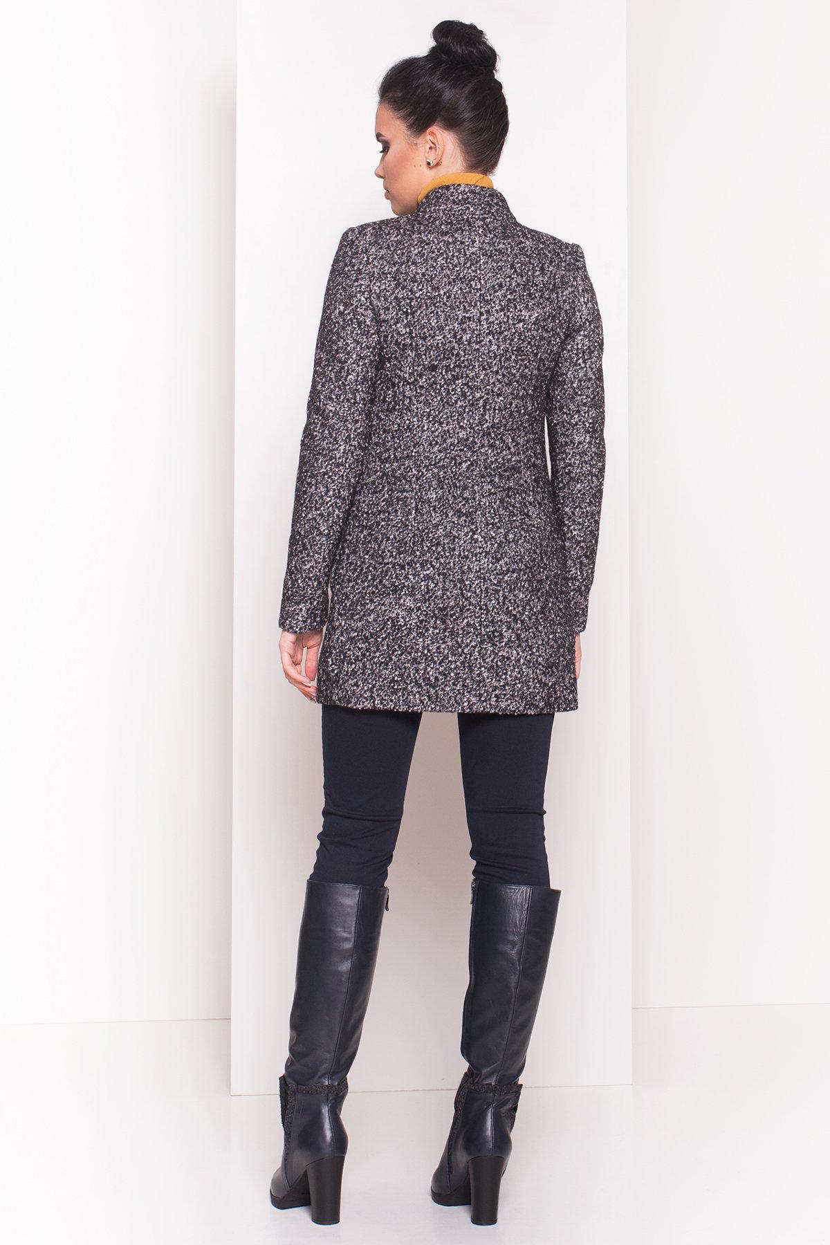 Пальто Мелини 0442 АРТ. 6776 Цвет: Черный / серый 6 - фото 2, интернет магазин tm-modus.ru