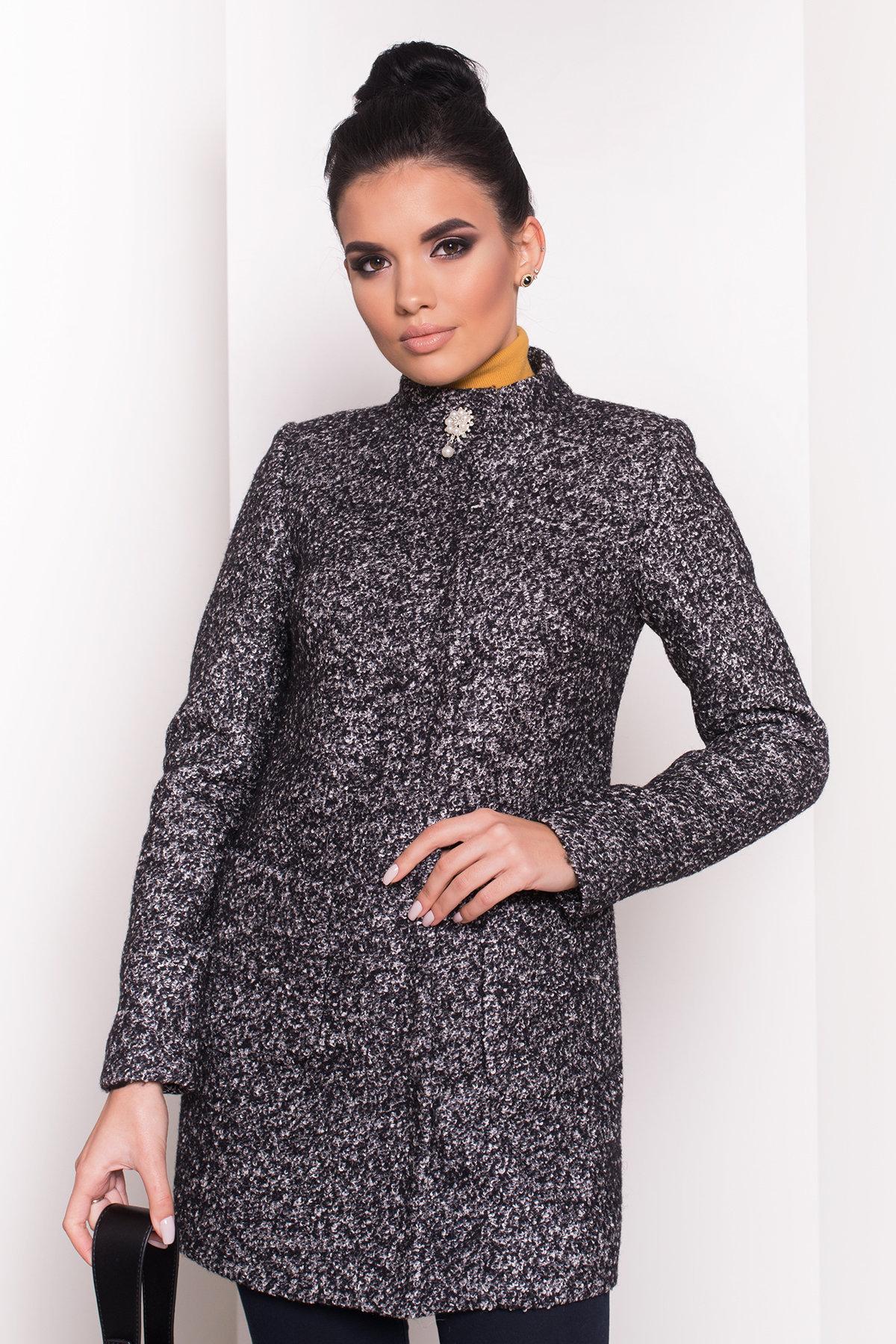 Пальто Мелини 0442 АРТ. 6776 Цвет: Черный / серый 6 - фото 4, интернет магазин tm-modus.ru
