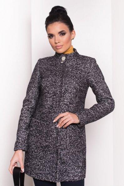 Пальто Мелини 0442 Цвет: Черный / серый 6