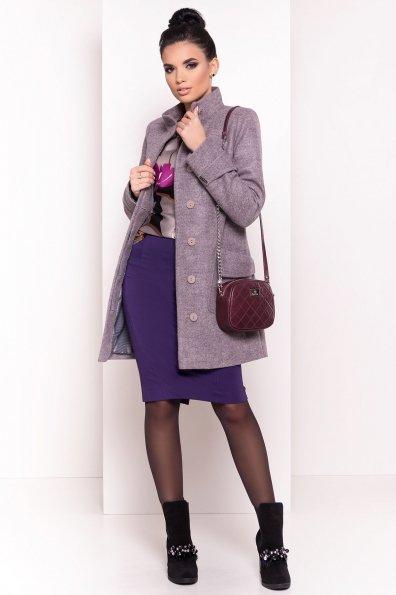 Демисезонное пальто с воротником стойка Эста 5417 Цвет: Карамель