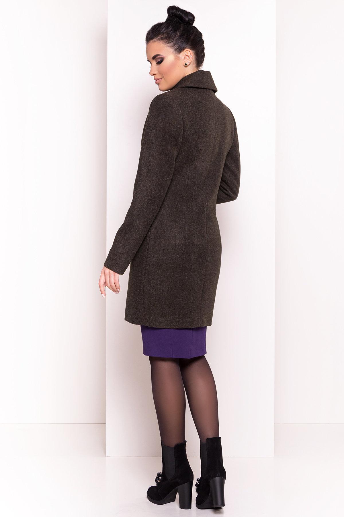 Стильное демисезонное пальто Габриэлла 5295 АРТ. 37285 Цвет: Хаки - фото 2, интернет магазин tm-modus.ru