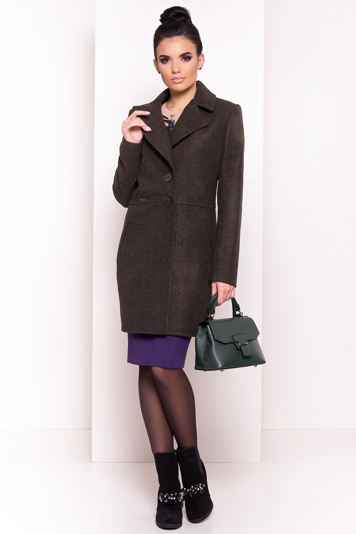 Стильное демисезонное пальто Габриэлла 5295 АРТ. 37285 Цвет: Хаки - фото 4, интернет магазин tm-modus.ru