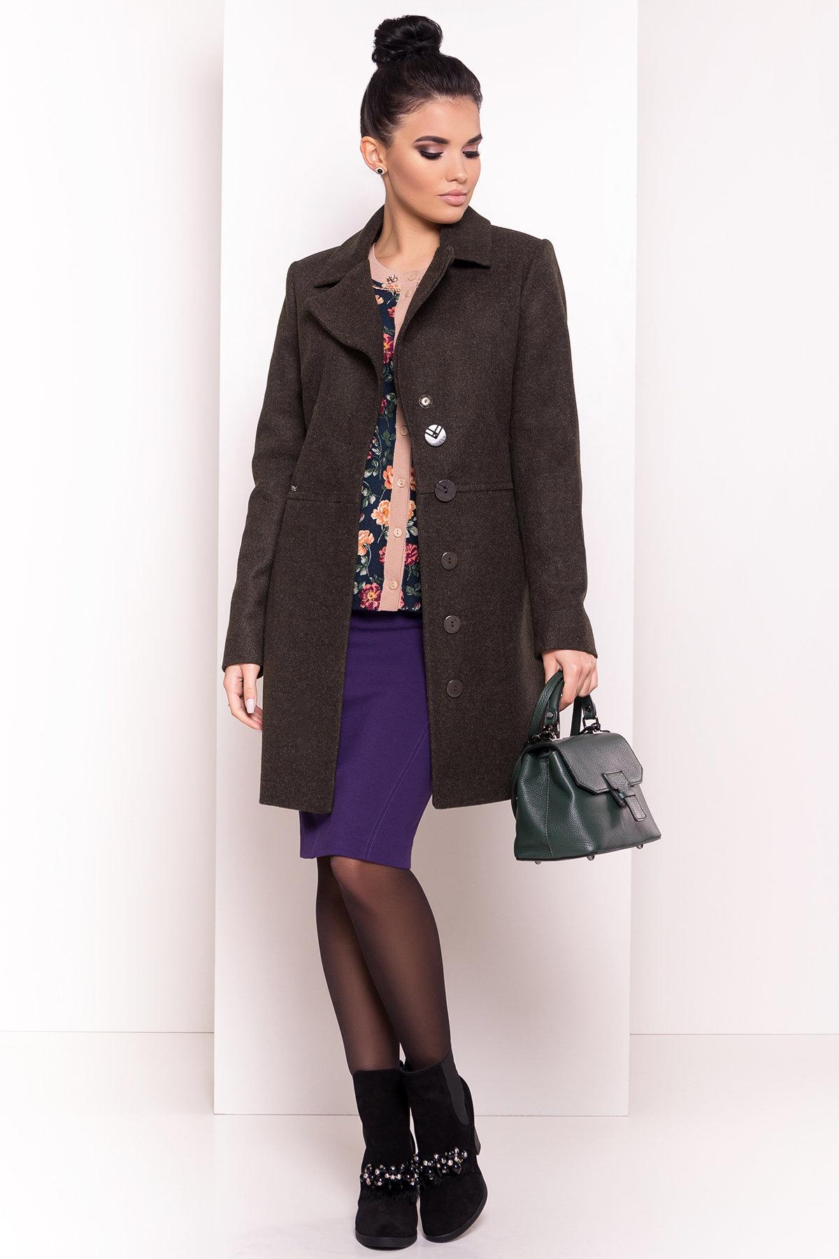 Стильное демисезонное пальто Габриэлла 5295 АРТ. 37285 Цвет: Хаки - фото 3, интернет магазин tm-modus.ru