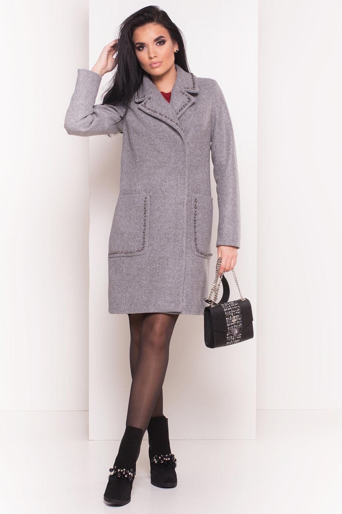 Пальто Кейси 5414 АРТ. 36765 Цвет: Серый Светлый 77 - фото 4, интернет магазин tm-modus.ru