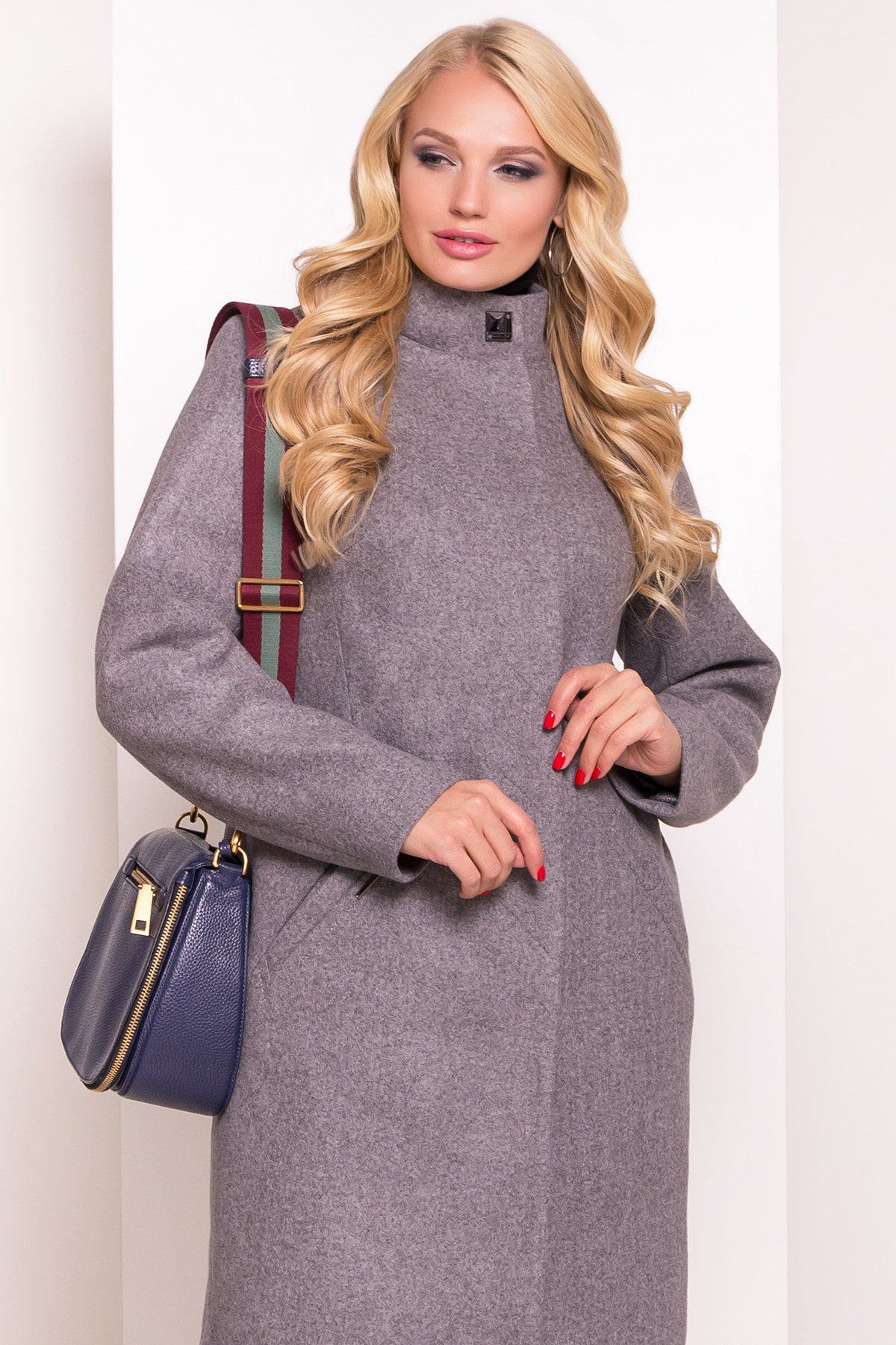 Пальто Люцея Donna 5545 Цвет: Серый 44
