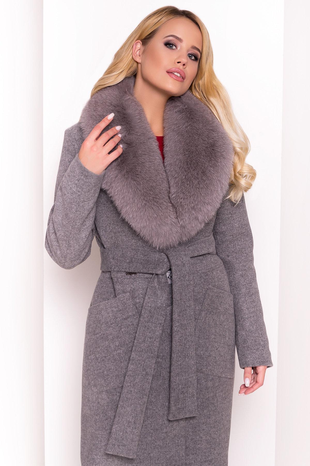 Пальто зима Габриэлла 4233 Цвет: Серый 18