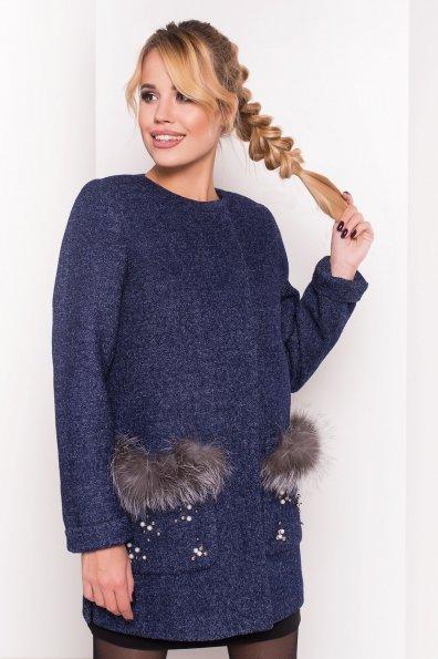 Пальто Ажен 1710 Цвет: Темно-синий 2