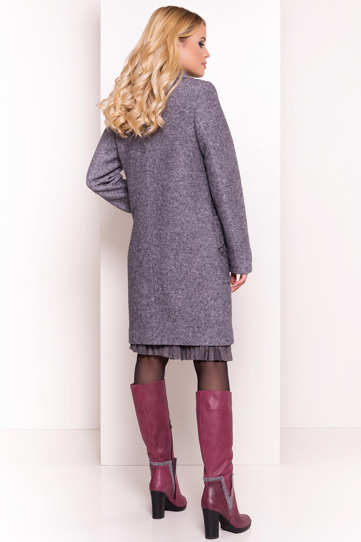 Демисезонное пальто из варенной шерсти Милена 5273 АРТ. 36892 Цвет: Серый Темный LW-47 - фото 2, интернет магазин tm-modus.ru