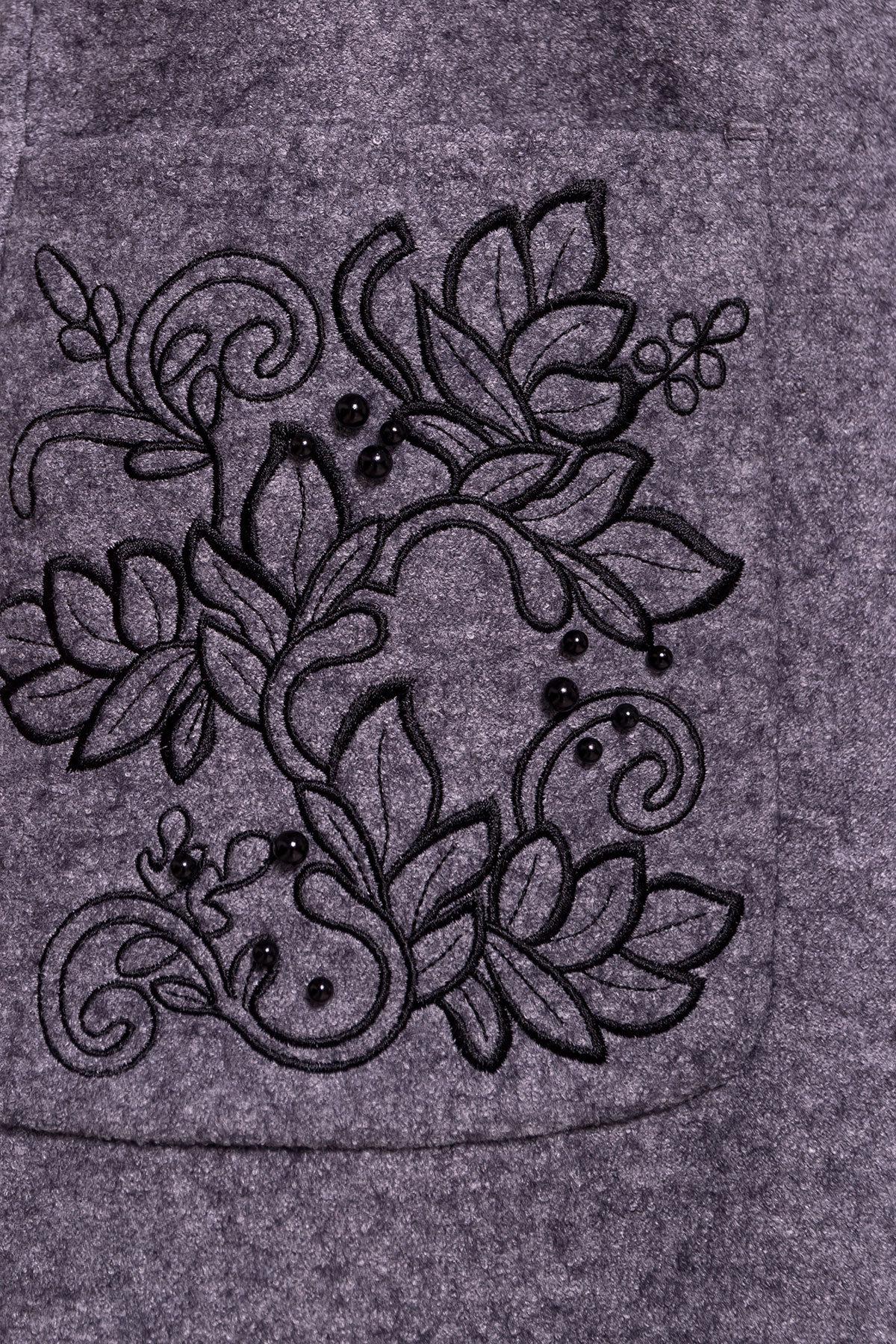 Демисезонное пальто из варенной шерсти Милена 5273 АРТ. 36892 Цвет: Серый Темный LW-47 - фото 6, интернет магазин tm-modus.ru