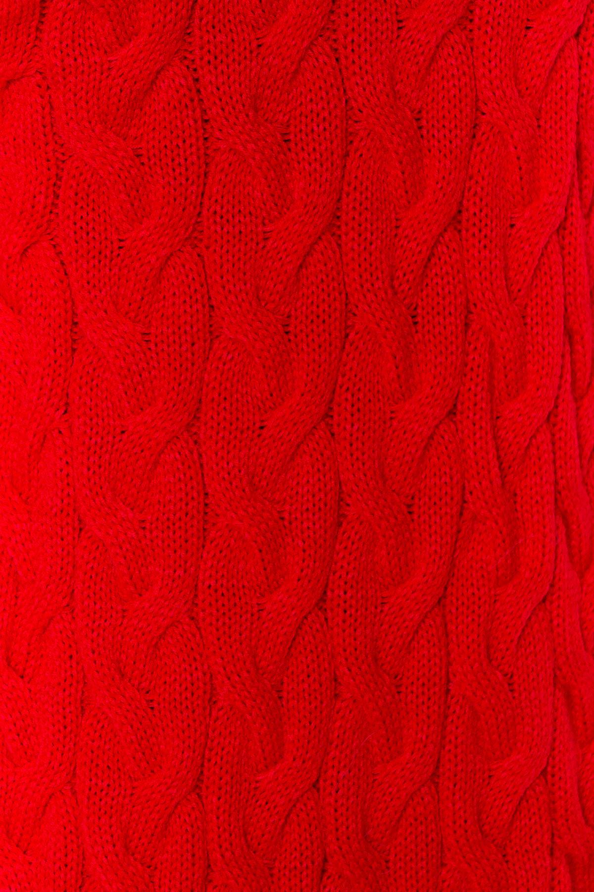 Кардиган длинный Лало АРТ. 7018 Цвет: Красный 2511 - фото 4, интернет магазин tm-modus.ru