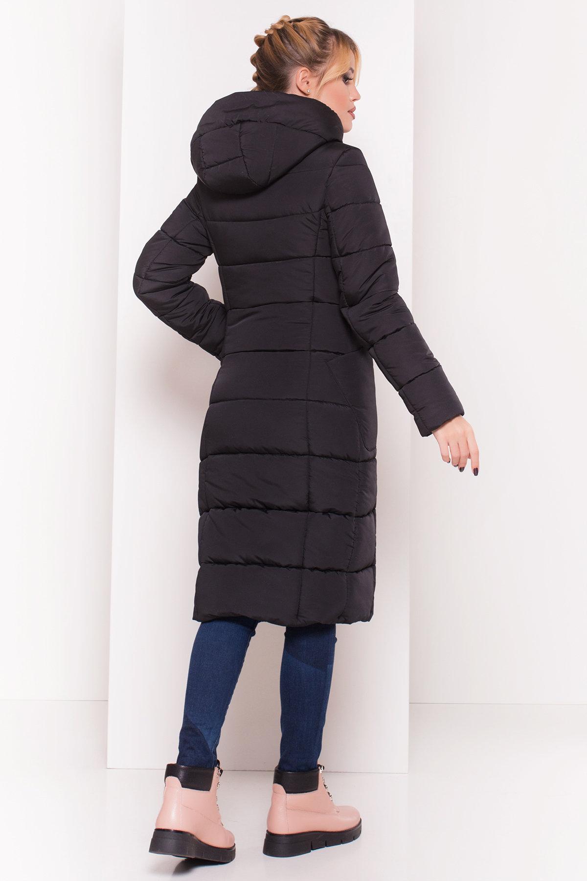 Пуховик-пальто с поясом Жако 5540 АРТ. 37335 Цвет: Черный - фото 2, интернет магазин tm-modus.ru