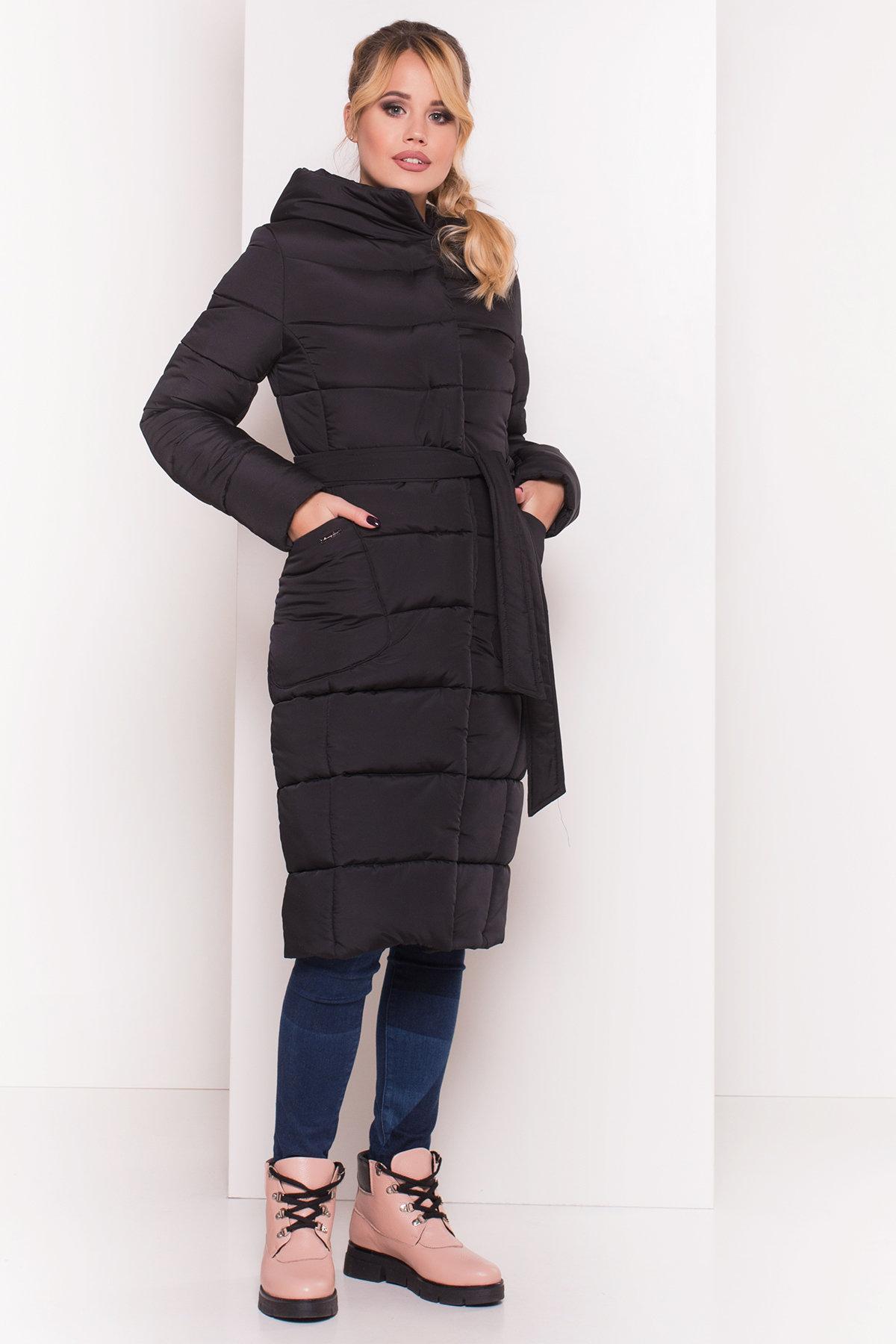 пуховики женские Украина Пуховик-пальто с поясом Жако 5540